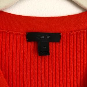 J. Crew Tops - J. Crew Ribbed Lace-up Sweater Tank in Orange
